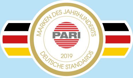 Auszeichnung Marke des Jahrhunderts 2019